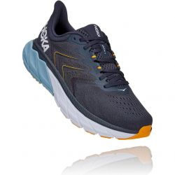 Hoka One One Mens Arahi 5 WIDE FIT Road Running Shoes - Ombre Blue Blue Fog