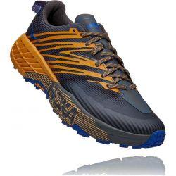 Hoka One One Mens Speedgoat 4 Running Shoes - Castlerock Golden Yellow