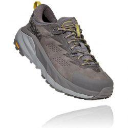 Hoka One One Mens Kaha Low GTX Waterproof Walking Shoes - Charcoal Grey Green Sheen - Mens