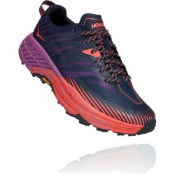 Hoka One One Womens Speedgoat 4 Trail Running Shoes - Outer Space Hot Coral