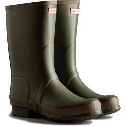 Hunter Mens Gardener Wellington Boots - Dark Olive Clay