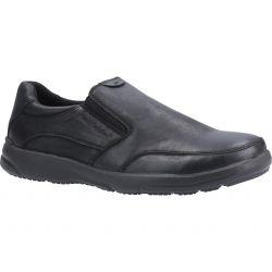 Hush Puppies Mens Aaron Slip On Shoes - Black