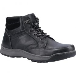 Hush Puppies Mens Grover Chukka Boots - Black