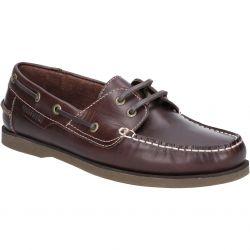 Hush Puppies Mens Henry Classic Boat Shoe - Dark Brown