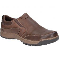 Hush Puppies Mens Jasper Slip On Shoes - Brown