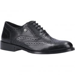 Hush Puppies Womens Natalie Leather Brogue Shoes - Black