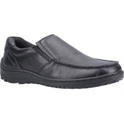 Hush Puppies Mens Thomas Wide Fit Slip On Shoes - Black