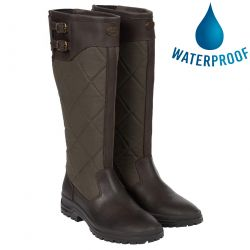 Le Chameau Womens Jameson Quilted Waterproof Country Boots - Marron