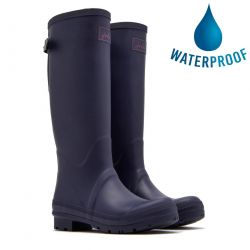 Joules Womens Field Welly Tall Wellies - Navy