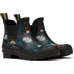 Joules Womens Wellibob Ankle Wellies - Black Butterfly