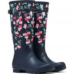 Joules Womens Welly Print Tall Wellies Wellington Boots - Floral Navy