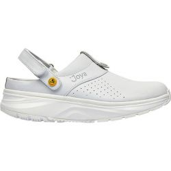 Joya Mens IQ ESD Leather Clog Shoes - White