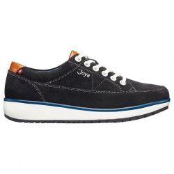 Joya Womens Vancouver Leather Shoes - Black Blue
