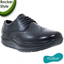 Joya Mens Dress Casual Leather Shoes - Black