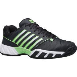 K Swiss Mens Bigshot Light 4 Tennis Trainers - Graphite Soft Neon Green
