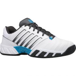 K Swiss Mens Bigshot Light 4 Tennis Trainers - White Dark Shadow Swedish Blue