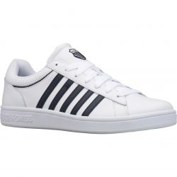 K-Swiss Mens Court Winston Leather Trainers - White Navy