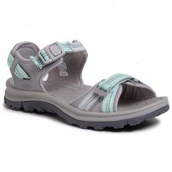 Keen Womens Terradora II Open Toe Walking Sandals - Light Grey Ocean Wave