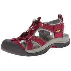 Keen Womens Venice H2 Waterproof Sandal - Beet Red Neutral Grey