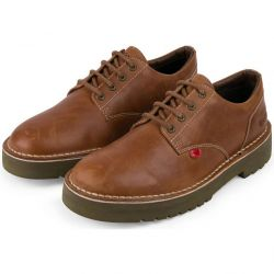 Kickers Mens Daltrey Derby Leather Shoes - Brown