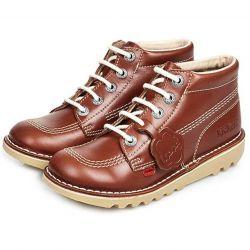 Kickers Kids Kick Hi Classic Ankle Boots - Tan
