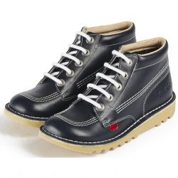 Kickers Kids Kick Hi Classic Ankle Boots - Navy White