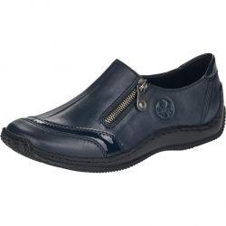 Rieker Womens L1761 Zip Up Slip On Shoes - Blue Pazifik Marine