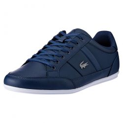 Lacoste Mens Chaymon Leather Trainers Shoes - Navy White