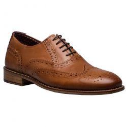 London Brogues Mens Gatsby Shoes - Tan