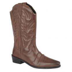 Gringos Woodland Mens Clive Hi Cowboy Western Boots - Brown