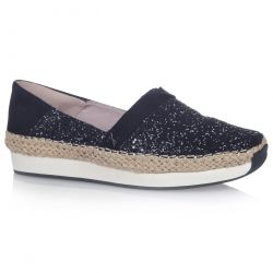 Butterfly Twists Womens Maya Shoes - Black Glitter Black Suede