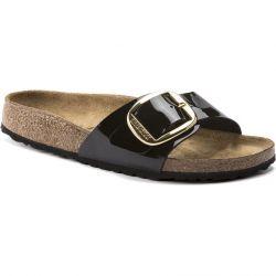 Birkenstock Womens Madrid Big Buckle regular Fit Sandals - Black Patent