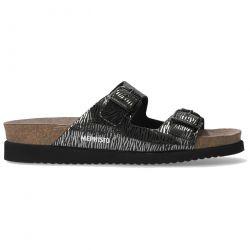 Mephisto Womens Harmony 2 Strap Adjustable Sandals - Black Zebra