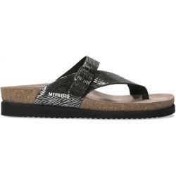 Mephisto Womens Helen Toe Post Sandals - Zebra