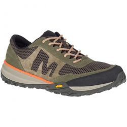 Merrell Mens Havoc Vent Breathable Walking Hiking Shoes Trainers - Olive