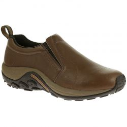 Merrell Mens Jungle Moc Leather Slip On Shoes - Black Slate - Brown