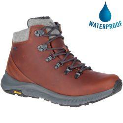 Merrell Mens Ontario Thermo Mid Waterproof Boots - Barley