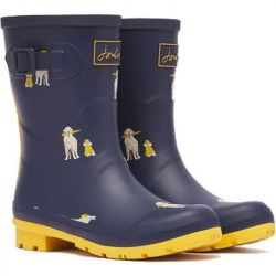 Joules Womens Molly Welly Short Wellington Boots - Raindogs
