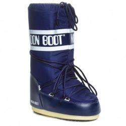 Original Moon Boot Womens Nylon Water Resistant Boots - Blue