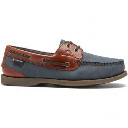 Chatham Mens Bermuda II G2 Leather Boat Shoes - Navy Seahorse