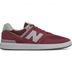 New Balance Mens AM 574 Skate Trainers - Burgandy