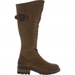 Oak & Hyde Womens Bridge 18 Tall Leather Boots - Cognac
