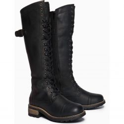 Oak & Hyde Womens Bridge 18 Tall Leather Boots - Black