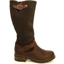 Oak & Hyde Womens Bridge Tall Leather Boots - Dark Brown Ebony