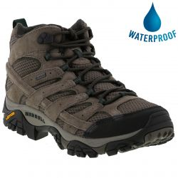 Merrell Mens Moab 2 Lth Mid GTX Waterproof Boots - Boulder