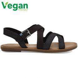 Toms Womens Sicily Vegan Sandals - Black Canvas