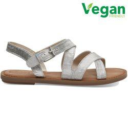 Toms Womens Sicily Vegan Sandals - Silver Metallic