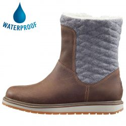 Helly Hansen Womens Seraphina Waterproof Leather Boots - Oatmeal Natura Taupe Grey