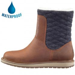 Helly Hansen Womens Seraphina Waterproof Leather Boots - Barley Coffee Been Angora Whiskey