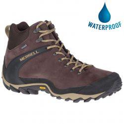 Merrell Mens Cham 8 Ltr Mid GTX Waterproof Boots - Espresso
